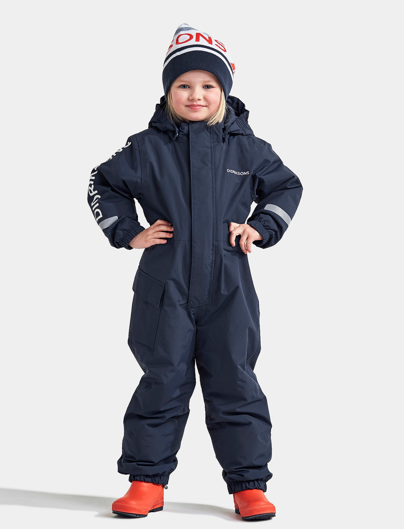 Didriksons - HAILEY KIDS COVERALL - snowsuit - navy - 0
