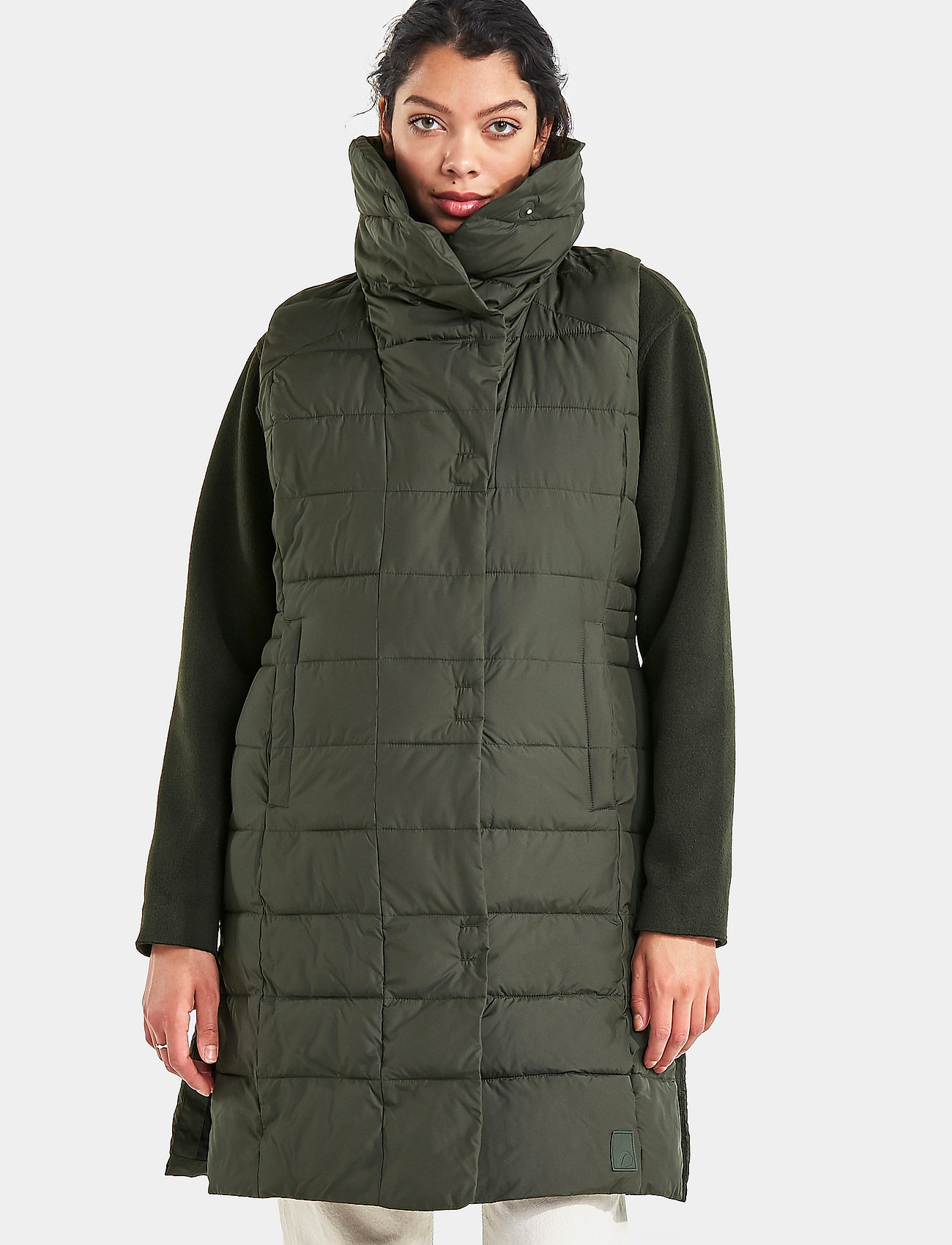 Didriksons - MY WNS VEST - puffer vests - forest green - 0