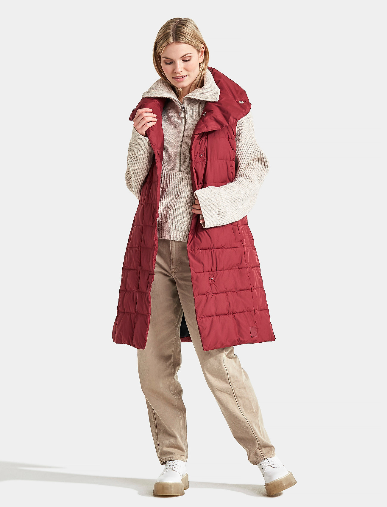 Didriksons - MY WNS VEST - puffer vests - velvet red - 0