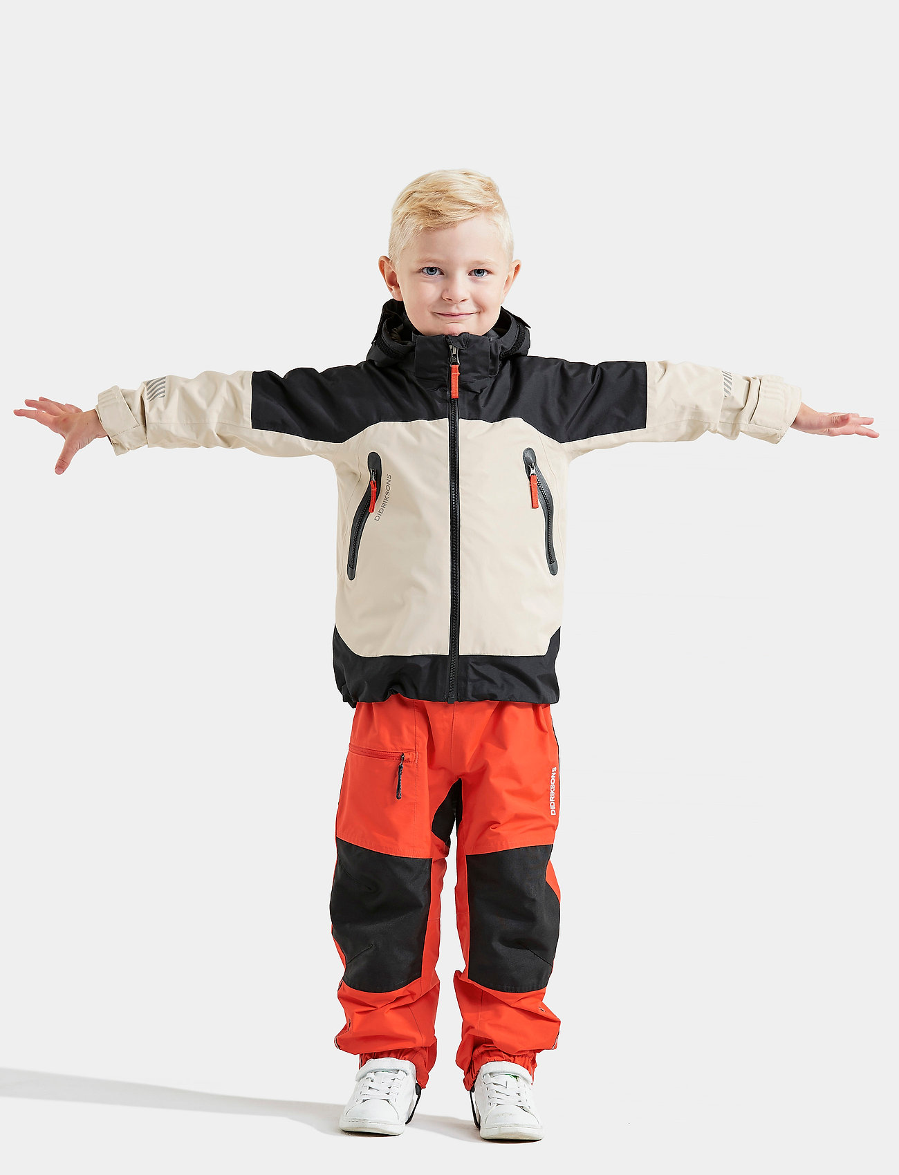 Didriksons - ASH KIDS JACKET - shell jassen - light beige - 0