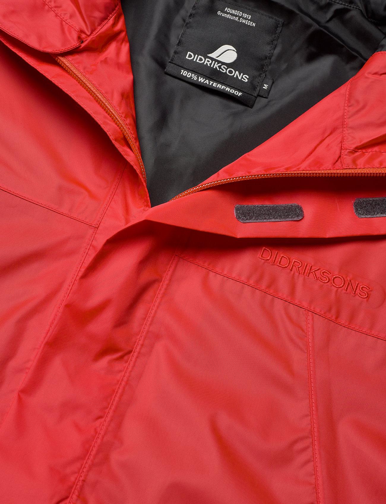 Didriksons - AMUR USX SET - manteaux de pluie - lava red - 5