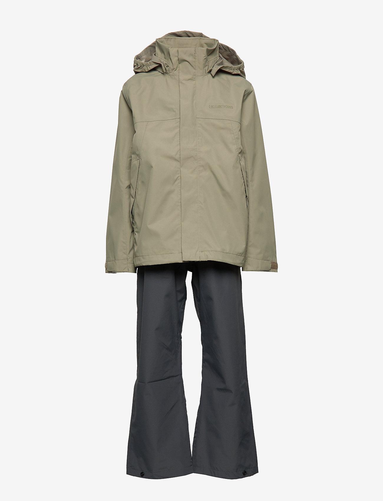 Didriksons - GRAND YT RAIN SET - sets & suits - mistel green - 1