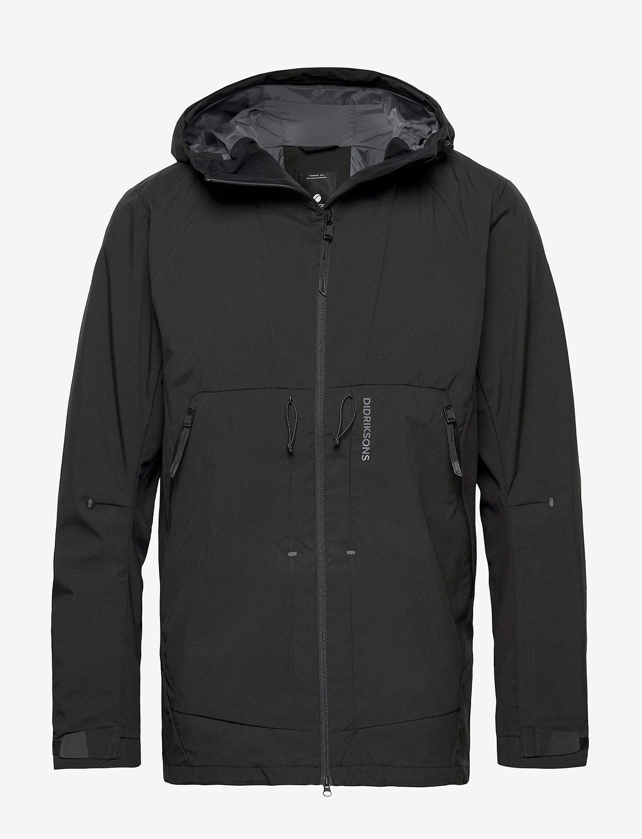 Didriksons - BENGT USX JKT 2 - manteaux de pluie - black - 0