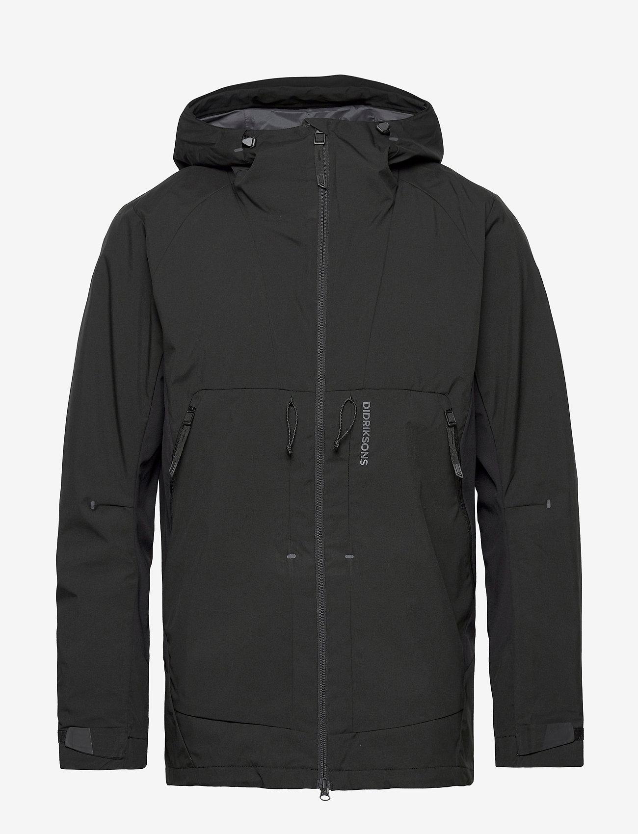 Didriksons - BENGT USX JKT 2 - manteaux de pluie - black - 1