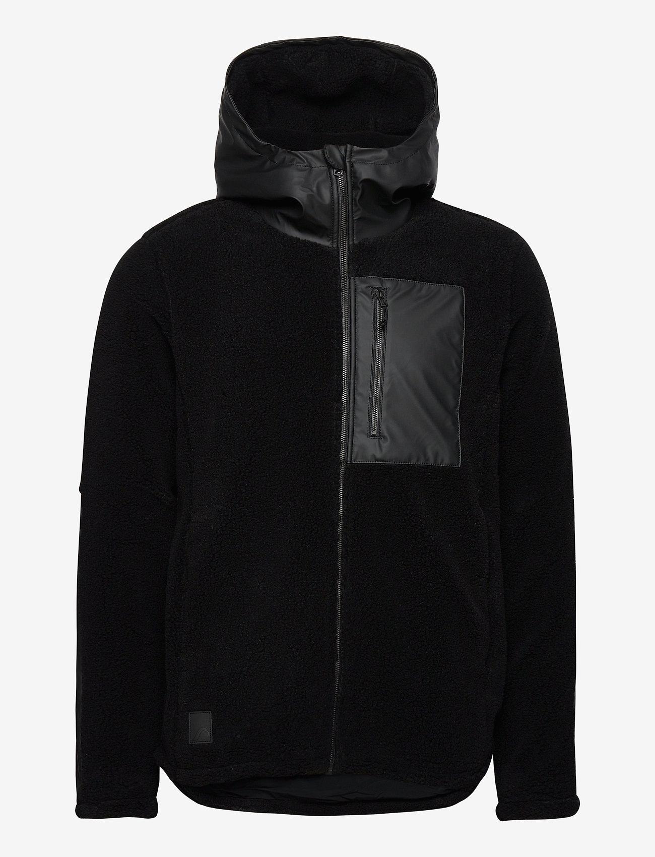 Didriksons - BOSSE USX JKT 2 - basic-sweatshirts - black - 1