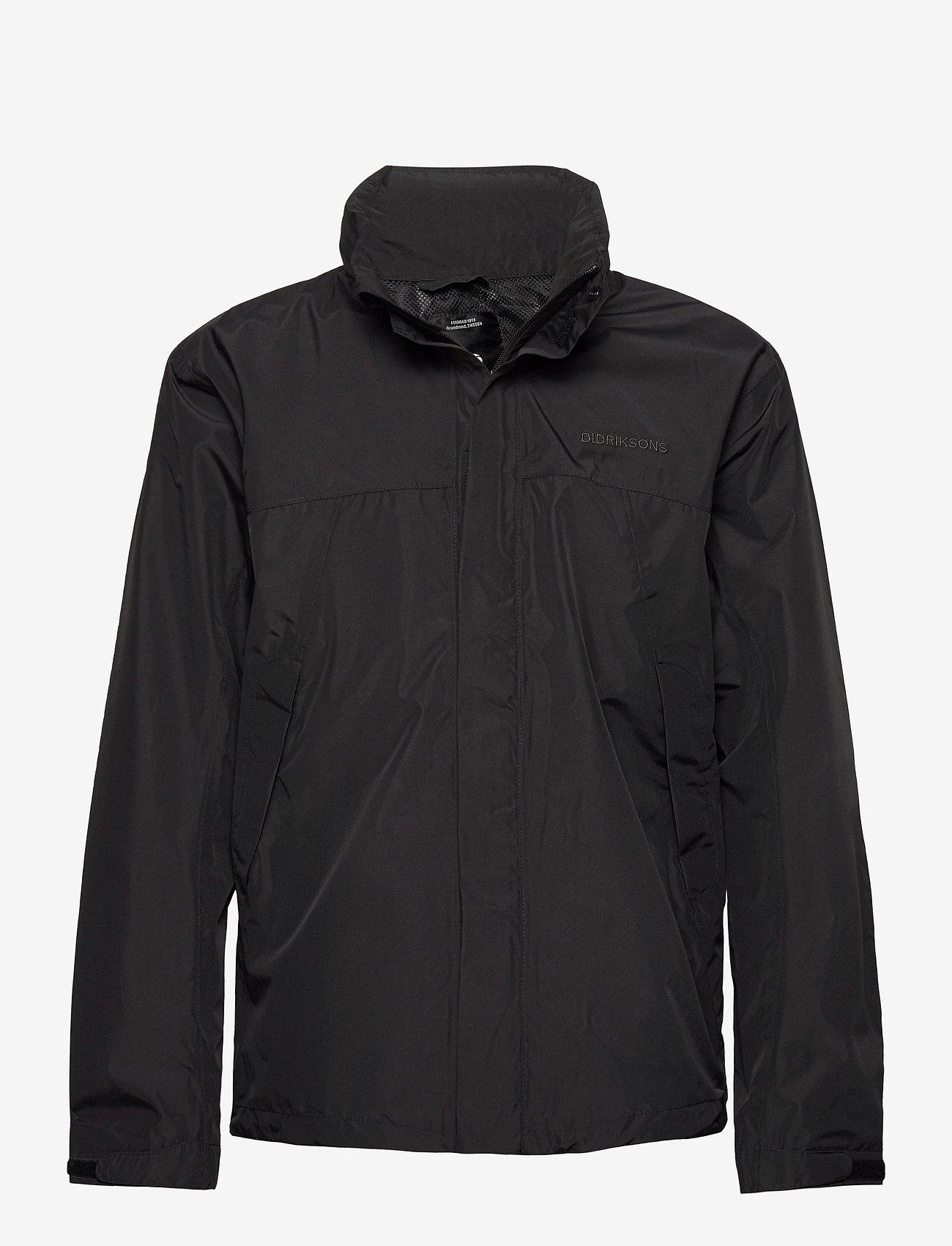 Didriksons - GRAND USX JKT - manteaux de pluie - black - 0