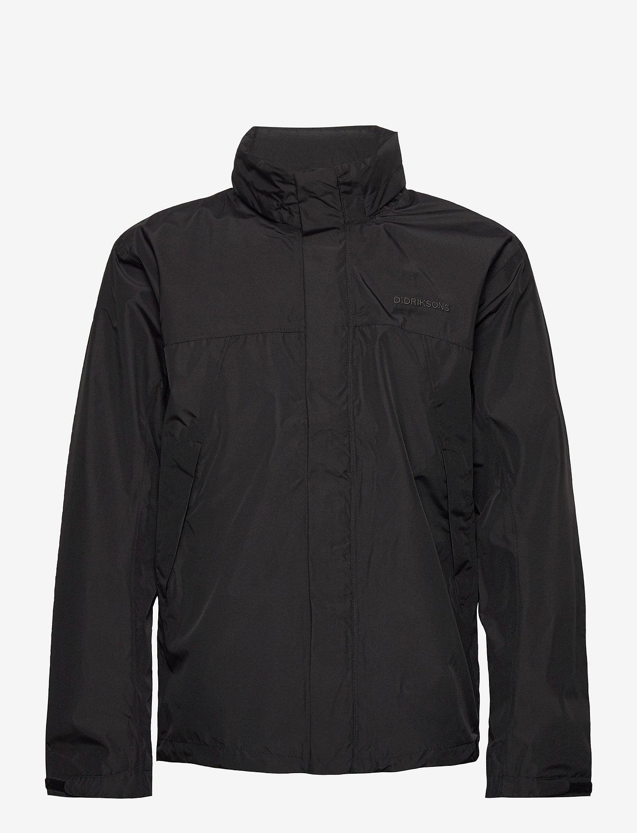 Didriksons - GRAND USX JKT - manteaux de pluie - black - 1