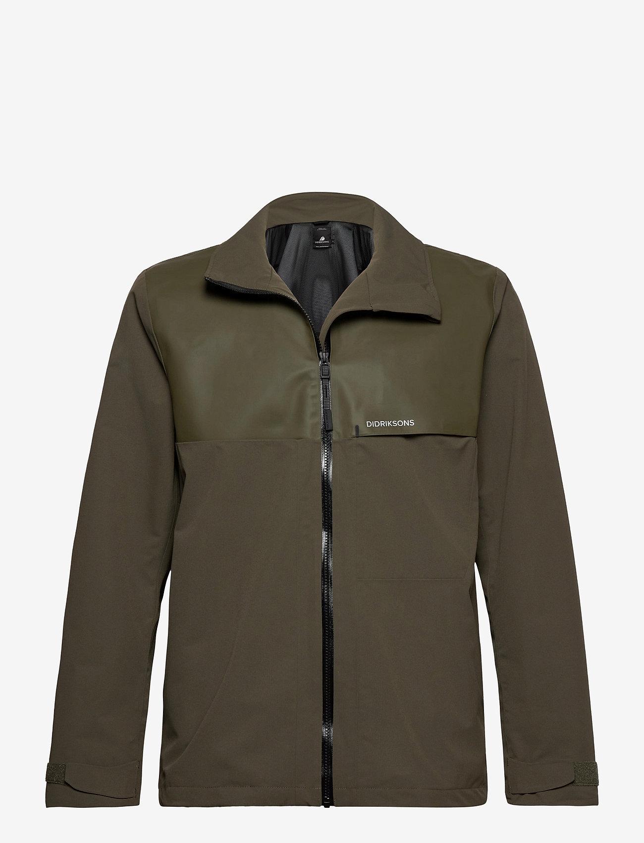Didriksons - OLIVER USX JKT - manteaux de pluie - fog green - 0