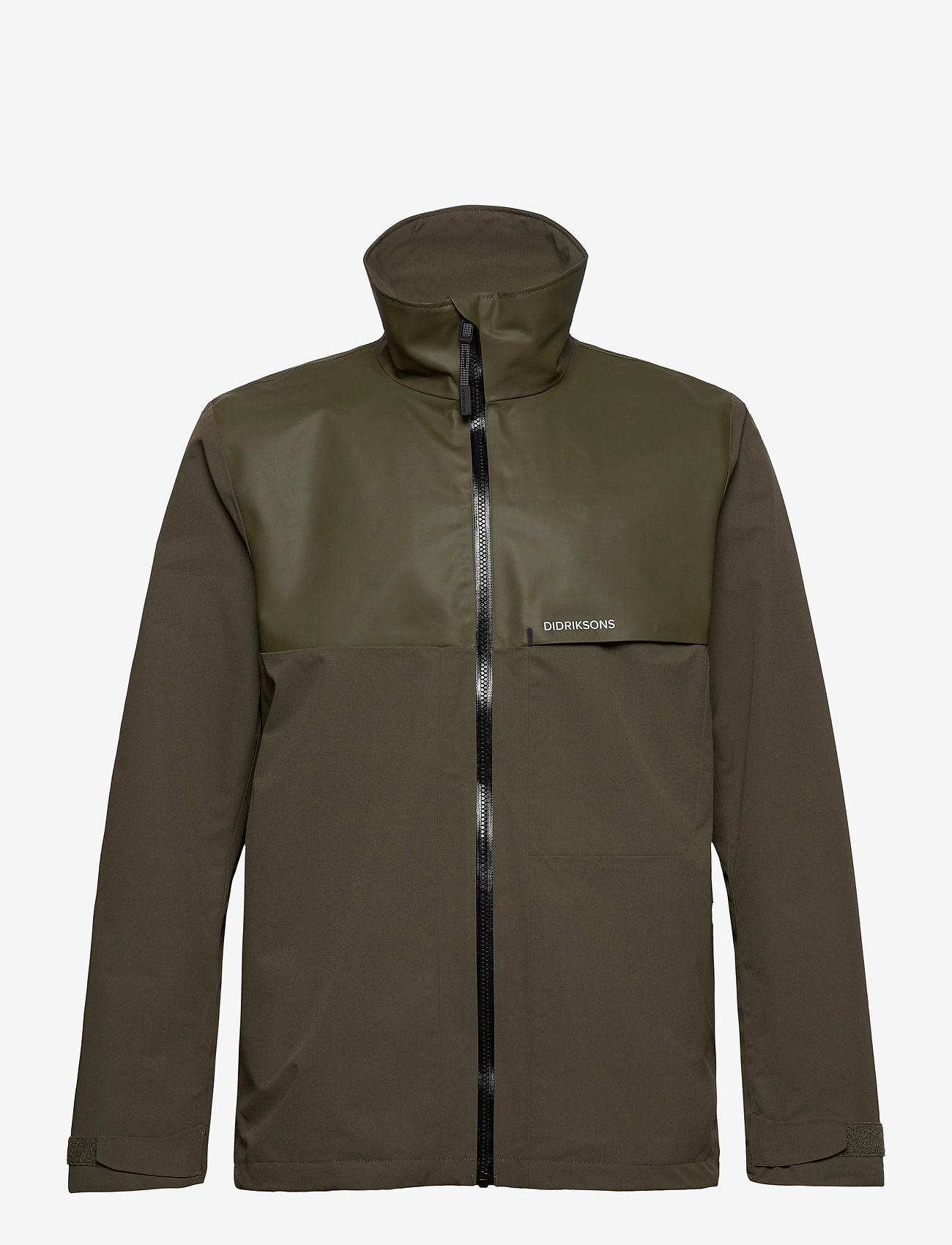 Didriksons - OLIVER USX JKT - manteaux de pluie - fog green - 1