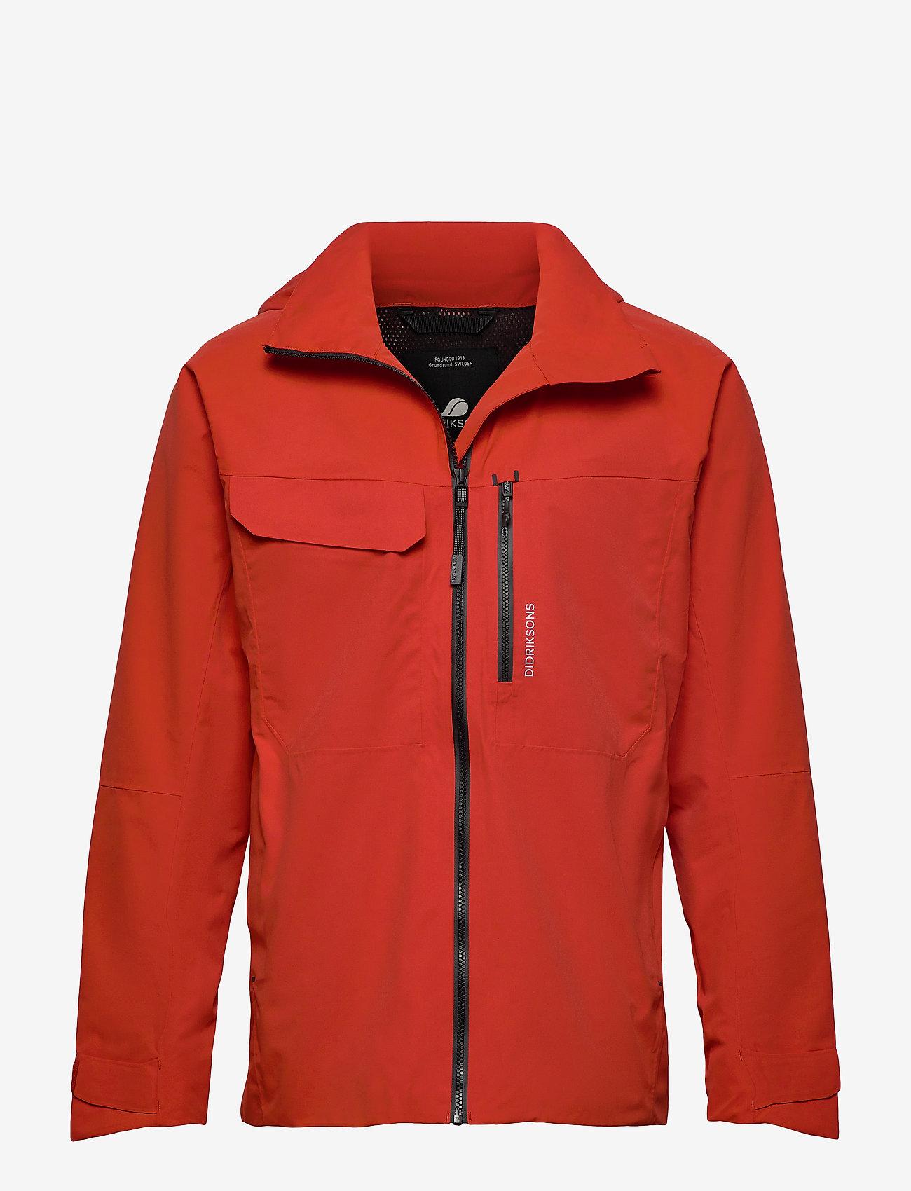 Didriksons - ASTON USX JKT - manteaux de pluie - lava red - 0