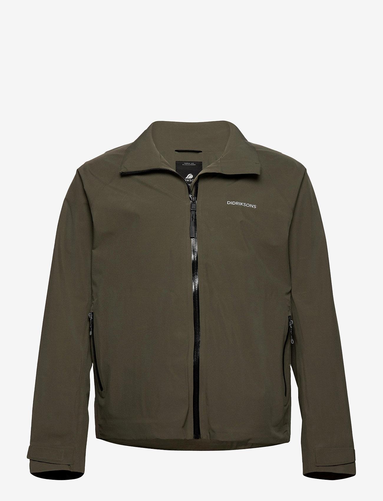 Didriksons - COLIN USX JKT - manteaux de pluie - fog green - 0