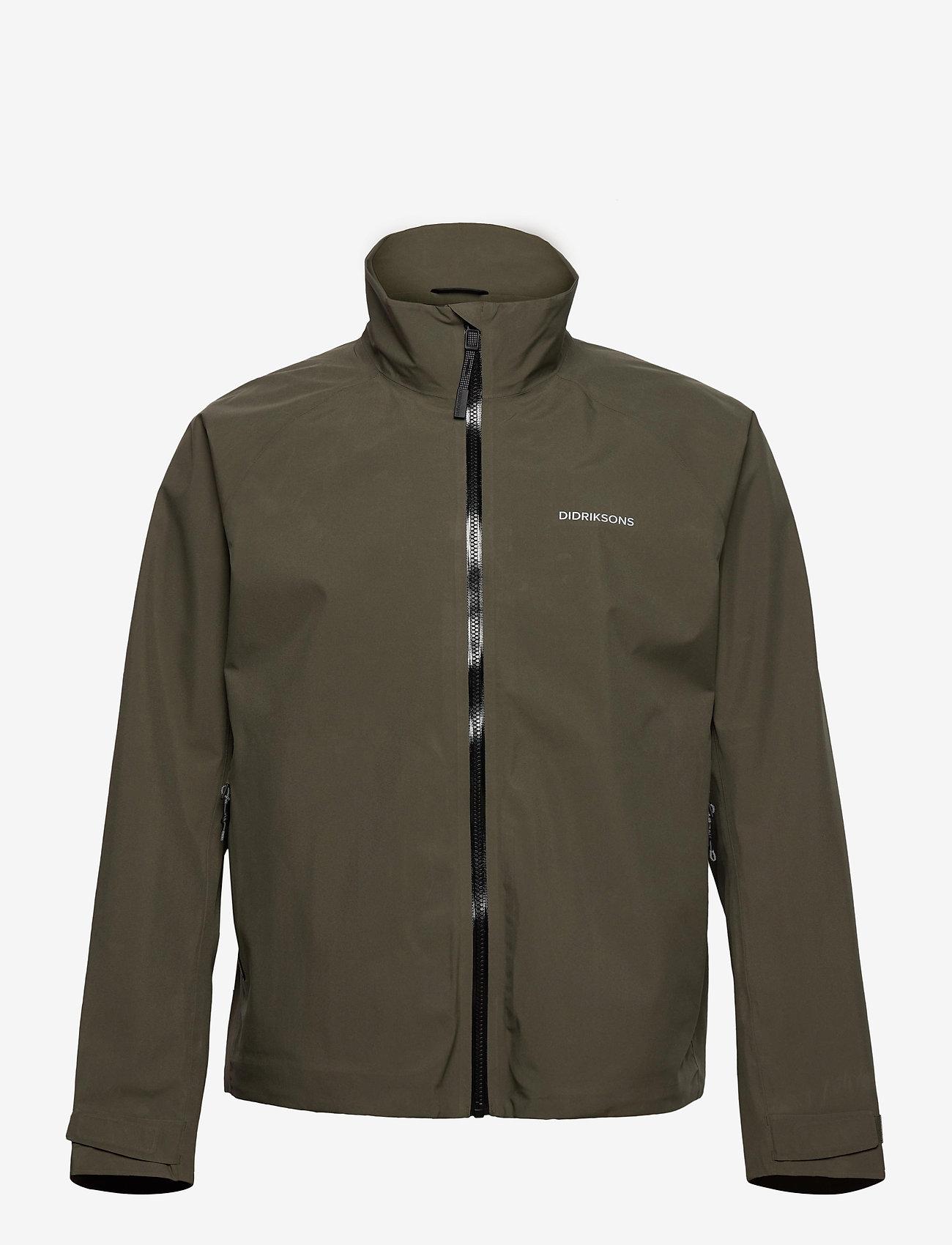 Didriksons - COLIN USX JKT - manteaux de pluie - fog green - 1