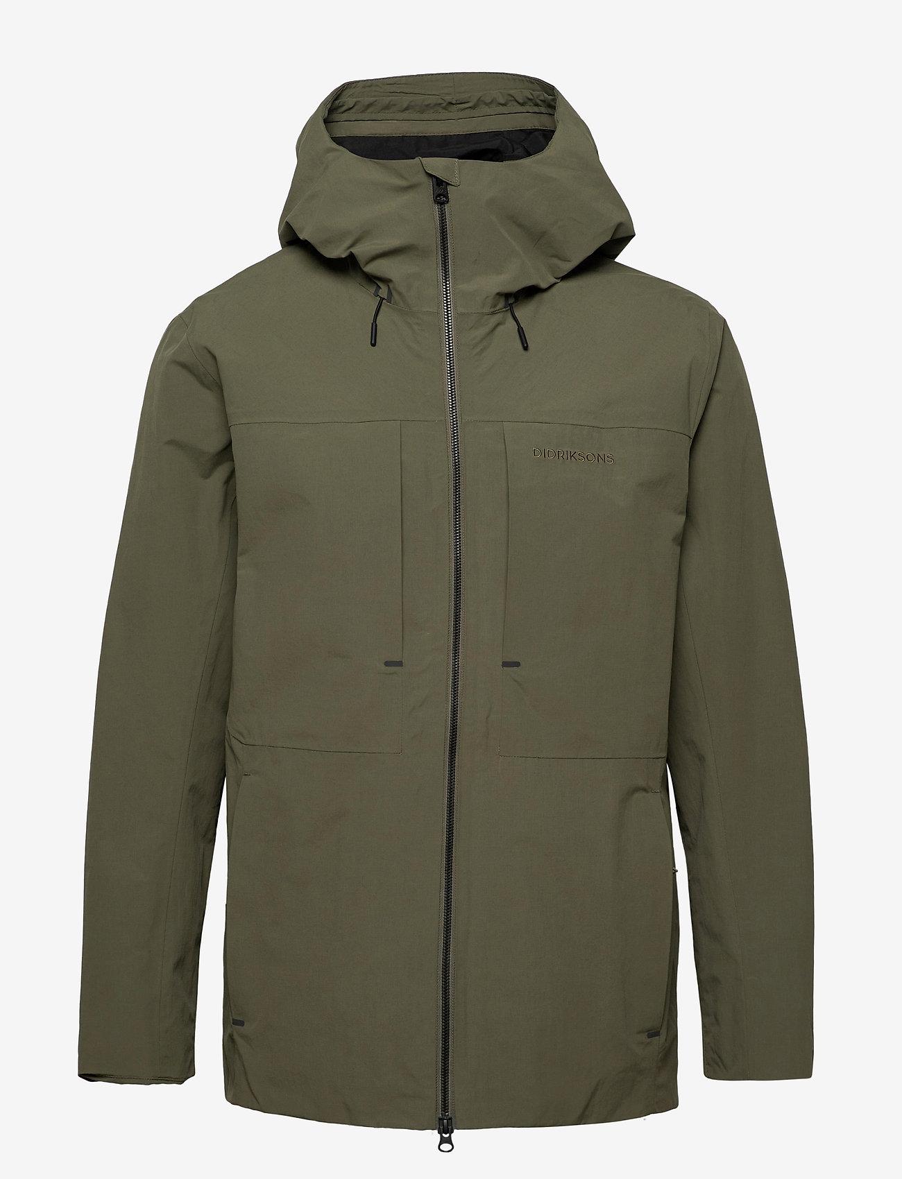 Didriksons - OVE USX JKT - manteaux de pluie - dusty olive - 1