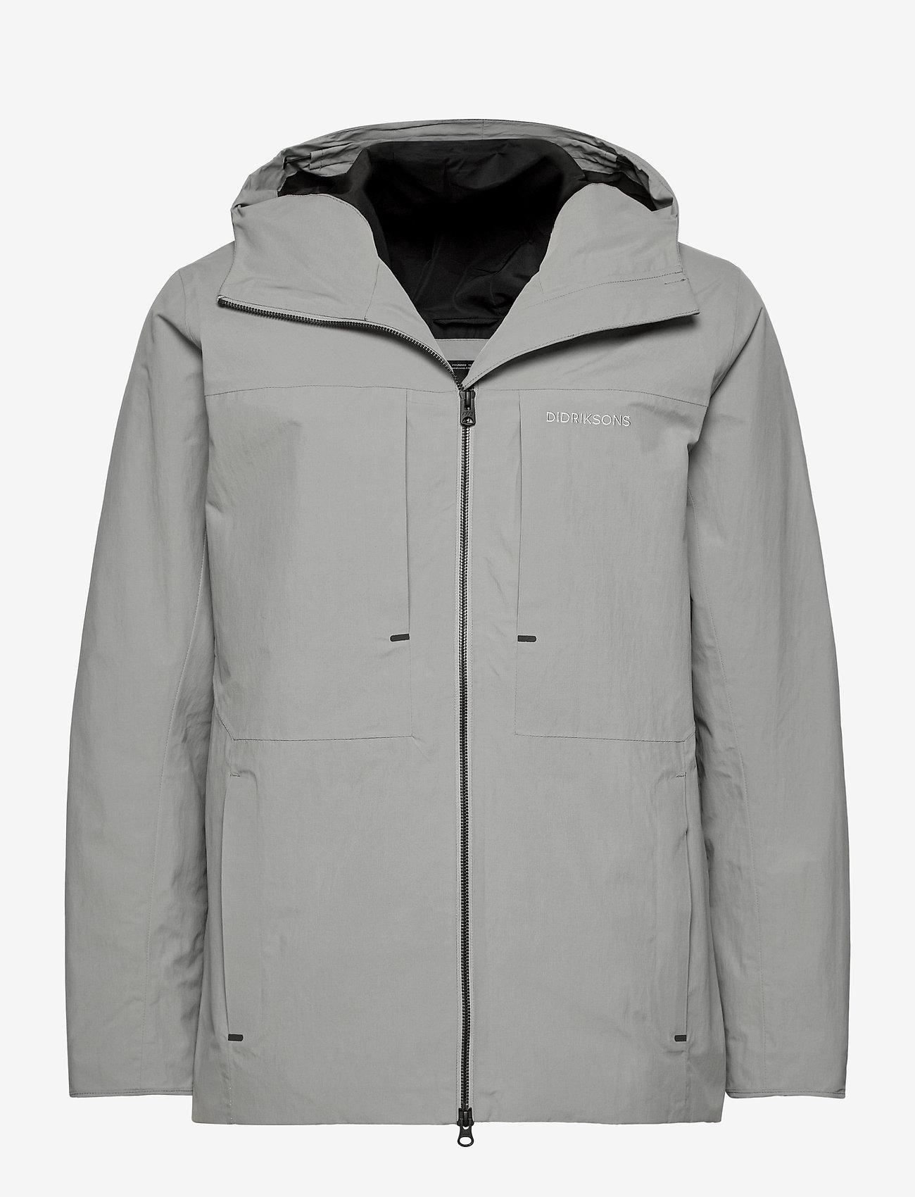 Didriksons - OVE USX JKT - rainwear - stone grey - 1