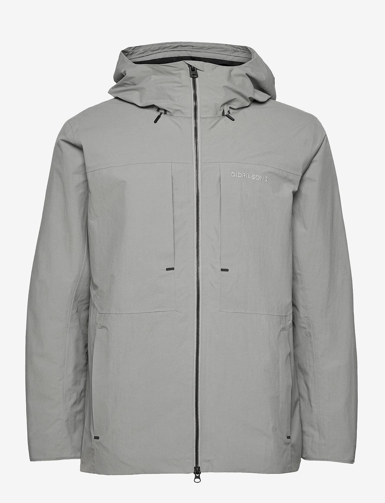 Didriksons - OVE USX JKT - manteaux de pluie - stone grey - 1