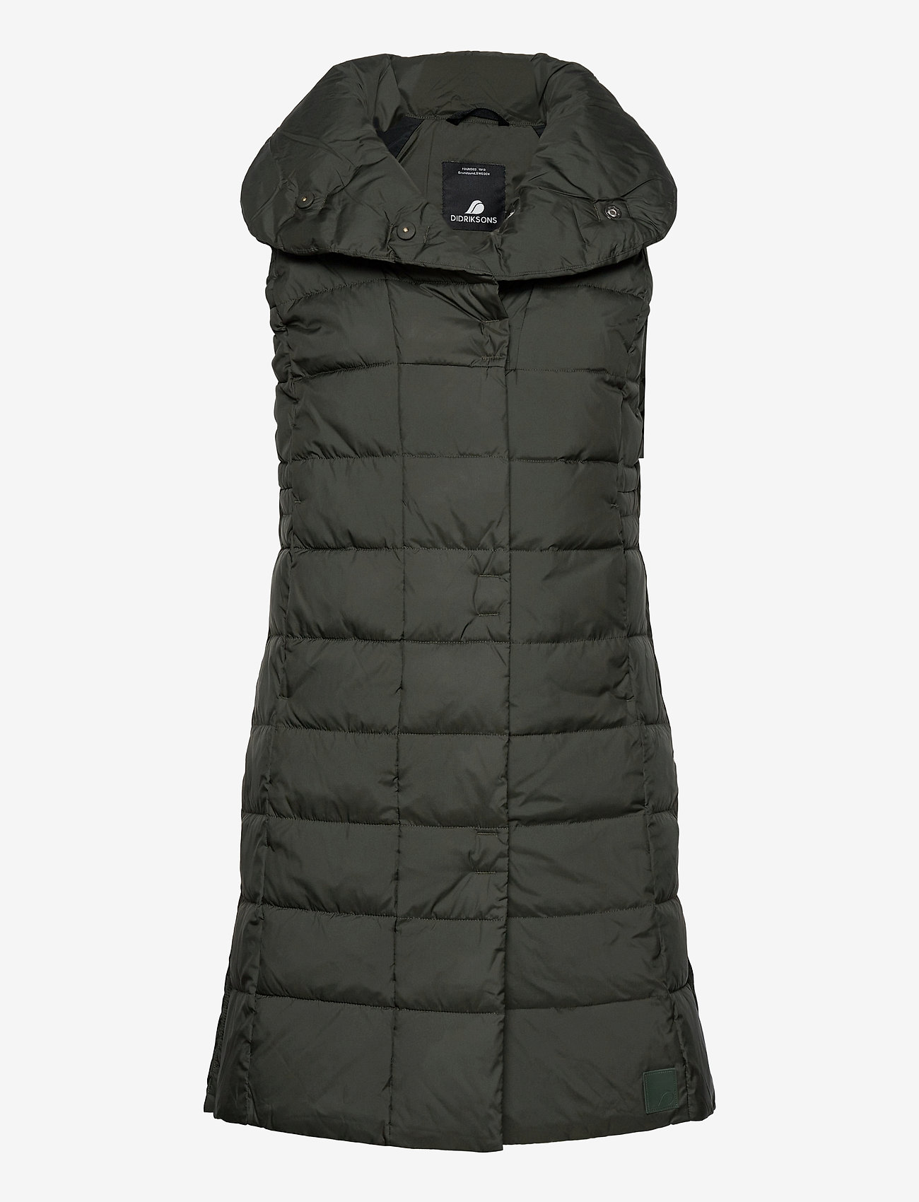 Didriksons - MY WNS VEST - puffer vests - forest green - 1