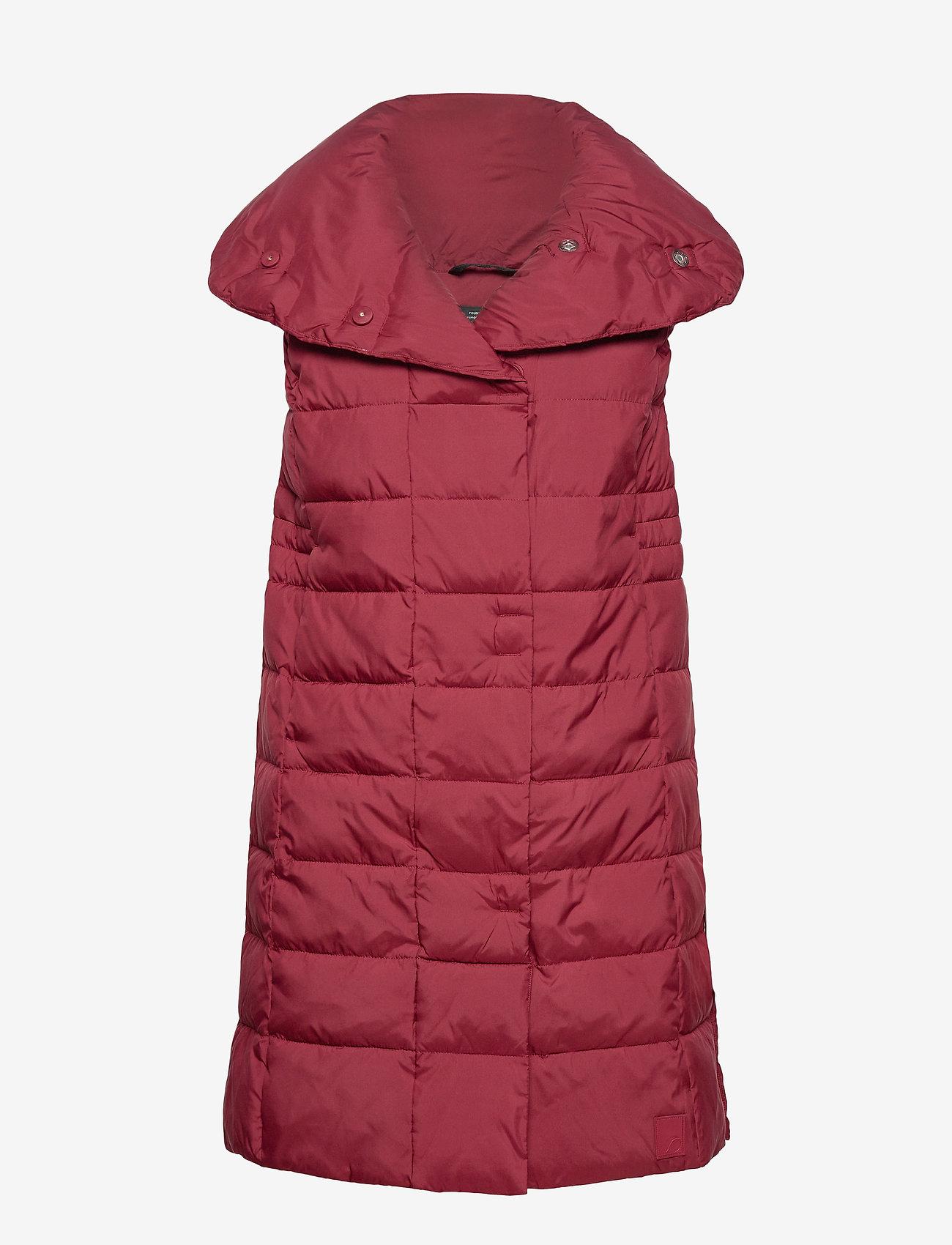 Didriksons - MY WNS VEST - puffer vests - velvet red - 1