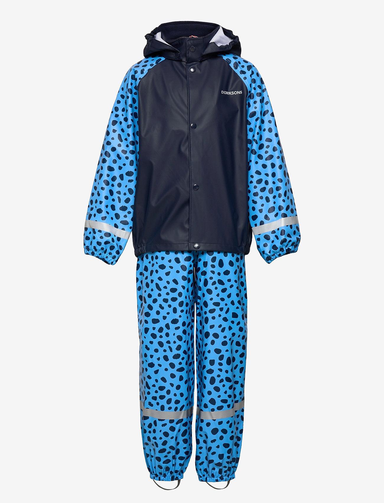 Didriksons - SLASKEMAN PR SET 4 - sets & suits - breeze blue dots - 1