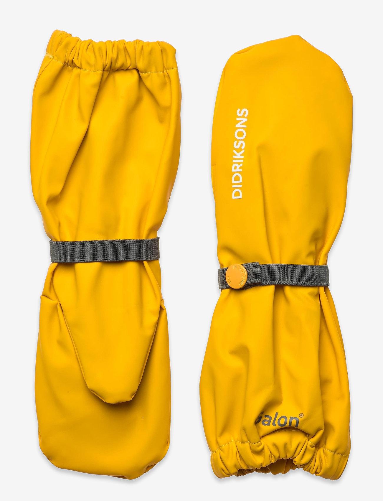 Didriksons - PILEGLOVE KIDS 4 - handsker & vanter - citrus yellow - 0