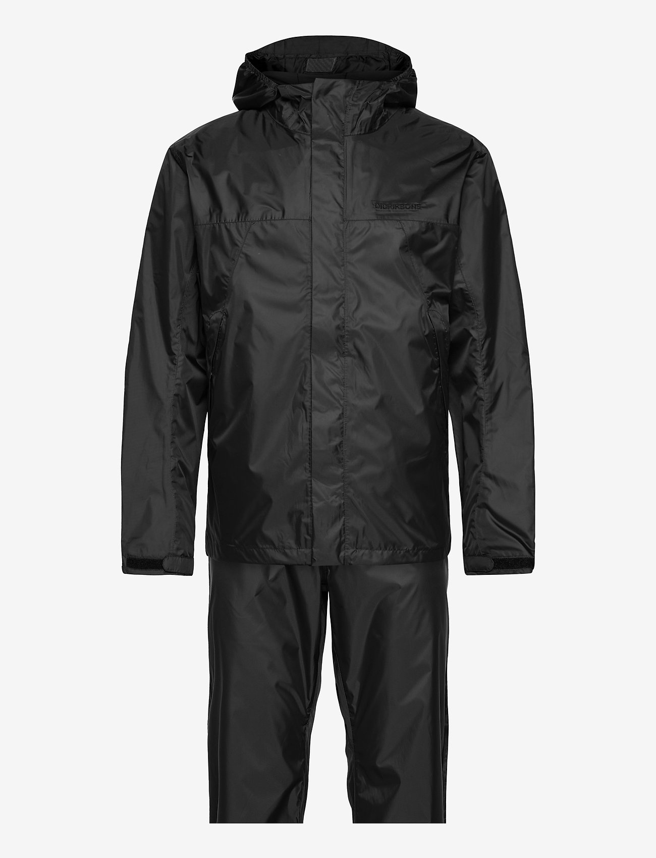 Didriksons - AMUR USX SET - manteaux de pluie - black - 0