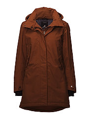 SARA WNS PARKA 2 - LEATHER BROWN