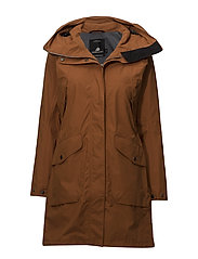 AGNES WNS COAT 2 - LEATHER BROWN