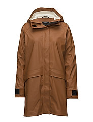 ULLA WNS COAT 2 - LEATHER BROWN