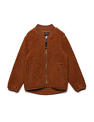 OHLIN KIDS PILE JKT - LEATHER BROWN