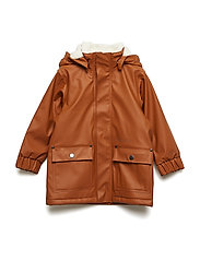 EKHOLM KIDS COAT - LEATHER BROWN