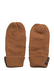 KIT KIDS MITTENS - LEATHER BROWN