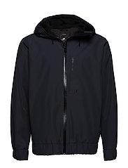 MIKKEL USX RAIN HOOD - COAL BLACK
