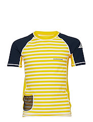 SURF KIDS SS UV TOP - YELLOW SIMPLE STRIPE