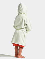 Didriksons - PIER KIDS BEACH ROBE - bathrobes - split green simple stripe - 3