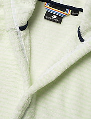 Didriksons - PIER KIDS BEACH ROBE - bathrobes - split green simple stripe - 4