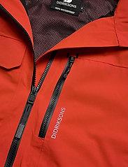 Didriksons - ASTON USX JKT - manteaux de pluie - lava red - 4