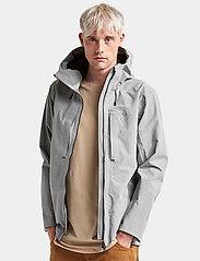 Didriksons - OVE USX JKT - rainwear - stone grey - 4