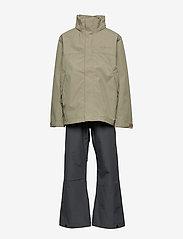 Didriksons - GRAND YT RAIN SET - sets & suits - mistel green - 3