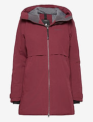 Didriksons - HELLE WNS PARKA 2 - parkasjackor - anemon red - 1