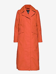 Didriksons - HANNA WNS COAT - trenchcoats - ember red - 1