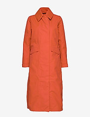 Didriksons - HANNA WNS COAT - trenchcoats - ember red - 2