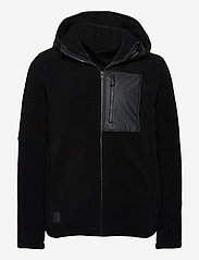 Didriksons - BOSSE USX JKT 2 - basic-sweatshirts - black - 0