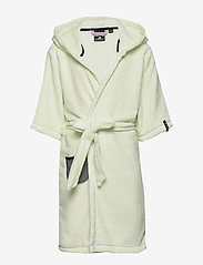 Didriksons - PIER KIDS BEACH ROBE - bathrobes - split green simple stripe - 1