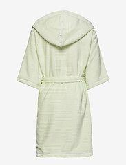 Didriksons - PIER KIDS BEACH ROBE - bathrobes - split green simple stripe - 2