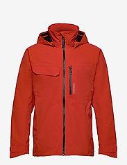 Didriksons - ASTON USX JKT - manteaux de pluie - lava red - 1
