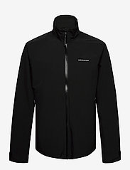 Didriksons - COLIN USX JKT - manteaux de pluie - black - 1