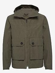 Didriksons - STELLAN USX JKT - manteaux de pluie - dusty olive - 0