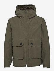 Didriksons - STELLAN USX JKT - manteaux de pluie - dusty olive - 1