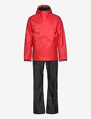 Didriksons - AMUR USX SET - manteaux de pluie - lava red - 0