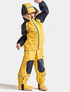 STORMMAN KIDS SET 4 - regnställ - pollen yellow