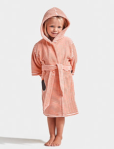 PIER KIDS BEACH ROBE - badrockar - tile orange simple stripe